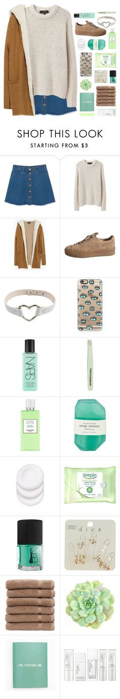 """so fill me up and let me try // tag"" by symone-i ❤ liked on Polyvore featuring Monki, Isabel Marant, Zara, Casetify, NARS Cosmetics, Tweezerman, Hermès, Pelle, Simple and Miss Selfridge"