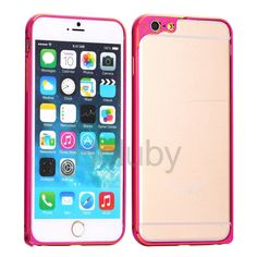 Electroplated Flower Ultra-thin Metal Frame Bumper Case for iPhone 6 Plus 6S Plus - Gold+Rose