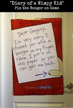 """""""Diary of a Wimpy Kid"""" Birthday Party 10th Birthday Parties, Sons Birthday, Birthday Fun, Funny Note, Wimpy Kid, Projects For Kids, School Projects, Party Time, Party Fun"""