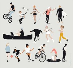 Vector People Doing Sports Illustration Collage Architecture, Architecture People, Architecture Graphics, People Png, Cut Out People, Illustration Vector, People Illustration, Png Vector, Vector Art