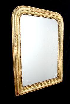 French Antique Louis Philippe Parcel Gilt Mirror