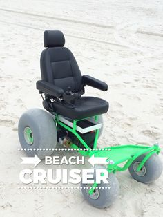 Beach wheelchair rental for the Panama City Beach, Destin & area of Florida. Rent a motorized Beach Cruiser Powered Wheelchair, Assistive Technology, New Inventions, Panama City Beach, Beach Chairs, Tricycle, Special Education, Outdoor Power Equipment, Baby Strollers