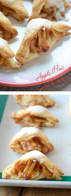 mini apple brie turnovers - a perfect appetizer | get the recipe on NoBiggie.net