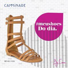 Sandália Gladiadora #top de hoje! ❤️ #camminare #shoes #winter #love #inlove #bestfriends #gladiador #moda #tendência #cmligada #querojá
