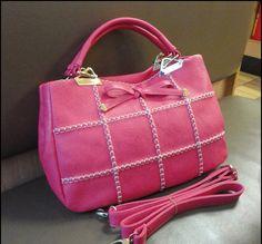 cute PU lattice Woven wire bowknot woman shoulder bag-pink | fancymall - Bags & Purses on ArtFire