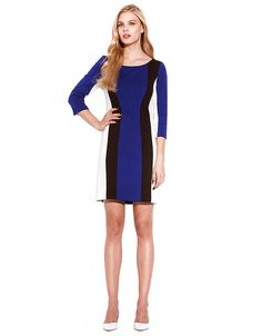 Colorblock Stripe Shift Dress | Lord and Taylor. Laundry by Shelli Segal..