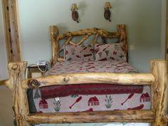 Log Furniture - Custom Bed - Brent Taylor Artist  Cabin Creek Log Furniture - mammoth lakes, Bishop.CA