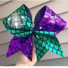 Girl I have the same bow but I has the real Starbucks mermaid