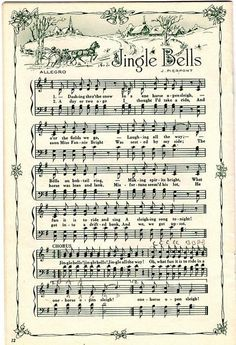 Christmas music printables...great for decor too!~
