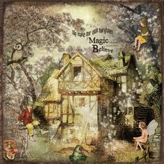 https://flic.kr/p/QtDhRN | Believe in Magic | Created with a variety of wonderful kits by Lynne Anzelc Designs including:  Farmhouse Blendsl Wood Sprites