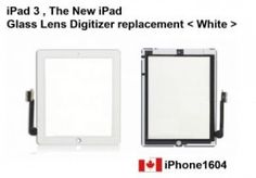 Apple iPad3, The New iPad Touch Screen Glass Lens Digitizer White Color Canada    Price = $85.00