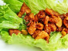 This tasty and simple recipe for Chicken Cashew Lettuce Wraps is a crowd favorite.