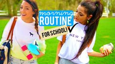 Morning Routine for School 2015 | Niki and Gabi School starts tomorrow for me so here is a video