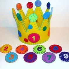 Super cute hand-made felt birthday crowns! Adjustable velcro to fit all sizes and interchangeable numbers to celebrate all birthdays! TOO CUTE! :)