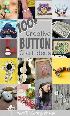 Grab your button jar because this mega list of creatively cool 100+ Button Projects will keep you inspired to use up every last one! The Sewing Loft