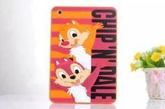 3D Cute cartoon Letter Mickey Pooh Stitch Mike Minnie Sulley soft silicone case cover for ipad mini 2 3 new mini + screen film