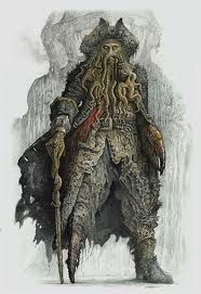 """Beautiful concept art for Davy Jones from """"Pirates of the Caribbean: Dead Man's Chest"""" Pirate Art, Pirate Life, Pirate Ships, Pirate Skull, Pirate Theme, Davy Jones, Caribbean Art, Pirates Of The Caribbean, Bateau Pirate"""