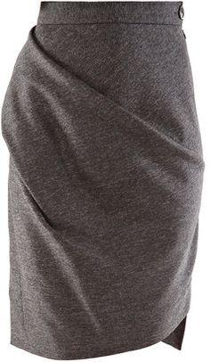 Vivienne Westwood Anglomania Tweed metallic skirt