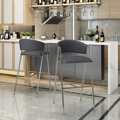 Find Christopher Knight Home Emily Modern Black Leather Inch Barstool (Set online. Shop the latest collection of Christopher Knight Home Emily Modern Black Leather Inch Barstool (Set from the popular stores - all in one Tall Bar Stools, Black Bar Stools, Counter Bar Stools, Luxury Home Furniture, Bar Furniture, Furniture Deals, Contemporary Bar Stools, Modern Bar Stools, Mid Century Bar Stools