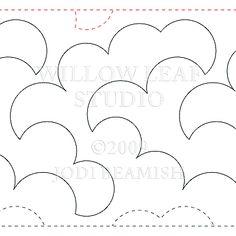 "Cotton - Paper - 10"" - Quilts Complete - Continuous Line Quilting Patterns"