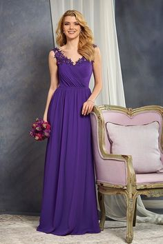 The floral straps on this bridesmaid dress are a cute finishing touch