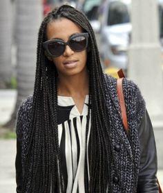 Solange Knoweles box braids