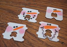 bread tag snowmen