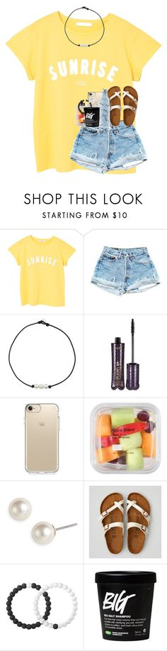 """""""missin summer nights."""" by kyliegrace ❤ liked on Polyvore featuring MANGO, tarte, Speck, Givenchy, American Eagle Outfitters, Lokai and S'well"""