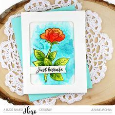 A Kept Life: A Blog Named Hero - Watercolor Challenge Begins! #marianne'sflowers #watercolor #rose #stamp #stamping #card #cardmaking #diycard #watercolor