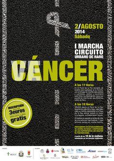 VENCER al CÁNCER Os dejamos el cartel para la Marcha contra el Cáncer que tendrá lugar el próximo 2 de Agosto.