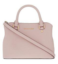 MICHAEL MICHAEL KORS Savannah Small Saffiano Leather Satchel.  #michaelmichaelkors #bags #leather #