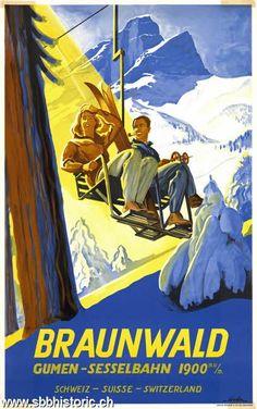 Braunwald Gumen-Sesselbahn