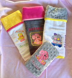 Burp Cloths and Wipes Case by ChickieStuff on Etsy