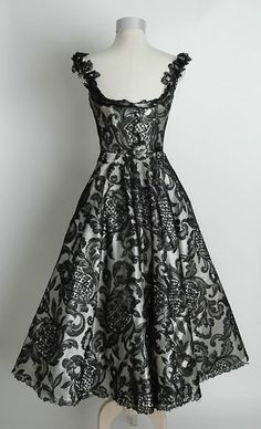 Black and White Vintage Dress