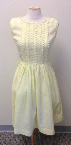 Vintage NOS 50s Yellow Lace Summer Dress WITH TAGS 1950s Bust 36 Union Tag by VintageClothingDream on Etsy https://www.etsy.com/listing/194208711/vintage-nos-50s-yellow-lace-summer-dress