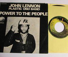 John Lennon Plastic Ono Band  - Power to The People   (Orig Italian Apple 45 w/ps)