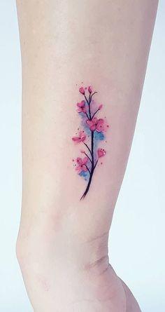 Kirschblüten Aquarell Tattoo © Tätowierer Jacke Michaelsen 💕💕💕ð . - Kirschblüten Aquarell Tattoo © Tätowierer Jacke Michaelsen 💕💕💕ð … - Mini Tattoos, Rose Tattoos, Body Art Tattoos, Small Tattoos, Small Colorful Tattoos, Small Forearm Tattoos, Circle Tattoos, Anime Tattoos, Sleeve Tattoos