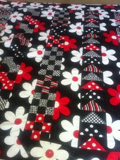 Great strips of different quilt blocks!