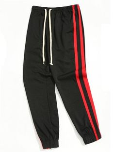 Drawstring Sporty Jogger Pants Men Clothes - Red With Black Jogger Pants, Joggers, Valentines Day Dresses, Men Trousers, Latest Mens Fashion, Long Pants, Online Clothing Stores, Workout Pants, Fashion Pants