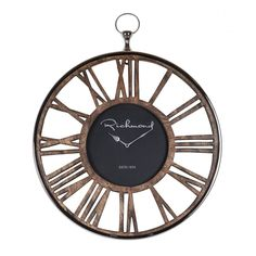 Ceas de perete rotund Richmond Melody D 55cm Richmond Interiors, London Clock, Pendulum Wall Clock, Energy Star, Wood Design, Retro, Cocoa, Style, Accessories