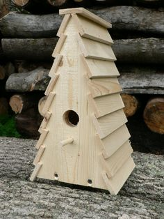Wooden Birdhouse The Shack by TheBirdShackShop on Etsy