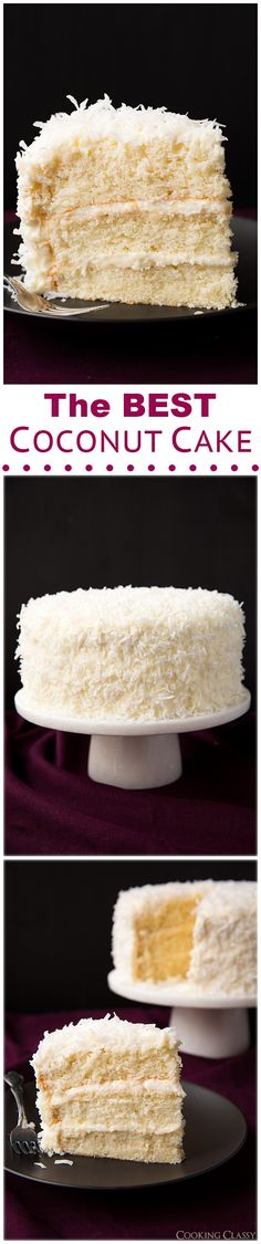 "Coconut Cake - ""This is hands down the BEST coconut cake I've ever had!! It has gotten great reviews, you can read them below the recipe."""