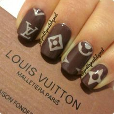 nails 2017 Latest Louis Vuitton Handbags For Styling Tips, Pay Western Union Get Discount, Buy More Discount More, Shop Now! Fabulous Nails, Gorgeous Nails, Pretty Nails, Acrylic Nail Designs, Acrylic Nails, Louis Vuitton Nails, Manicure E Pedicure, Elegant Nails, Hot Nails