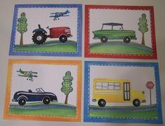 Transportation wall art vehicles cars trucks bus barn by terezief