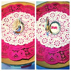 Instead of a gift tag, add a locket for a pretty, personal message. #reuse #upcycle #DIY