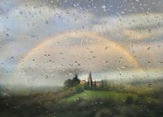 Rainbow Photography, Kissing In The Rain, Over The Rainbow, Photo Art, Northern Lights, Nature, Travel, Painting, Rainbows
