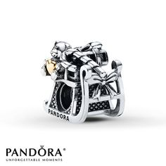 Pandora Charm Dashing through the Snow Sterling Silver/14K Gold