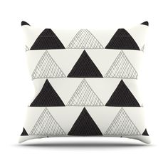 Bunting Scales Throw Pillow | dotandbo