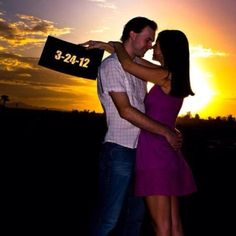 Save the date idea! Www.bridesforbrides.com