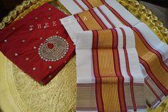 Kasavu Saree, Sarees, Kerala Saree, Saree Blouse Designs, Tree Skirts, Blouses, Traditional, Holiday Decor, How To Wear